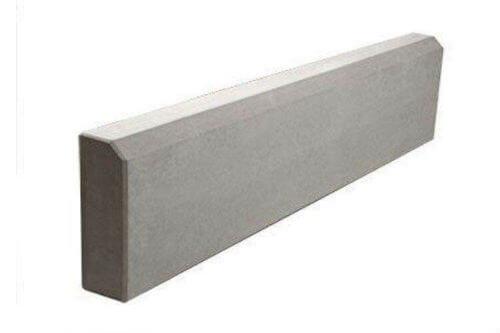 Бордюрный камень 1000x200x80 мм (серый)