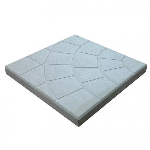 Тротуарная плитка Паутинка 350x350x50 мм (серый)